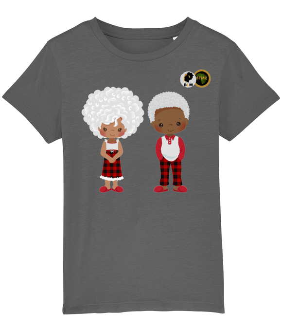 BLM Christmas - Grey Couple T Shirt