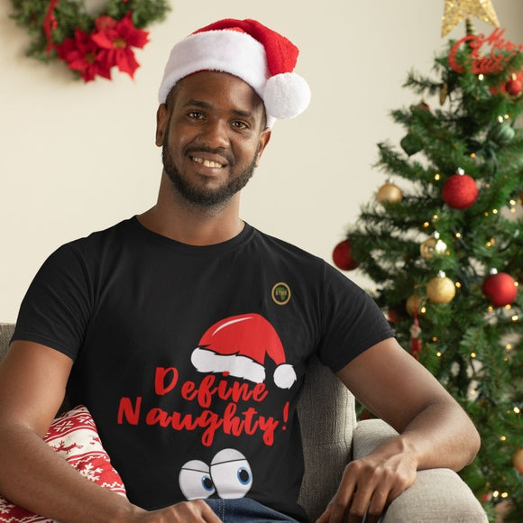 Define Naughty Red Christmas T Shirt
