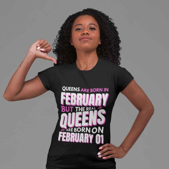 BIRTHDAY QUEEN | LADIES | ROUND NECK T SHIRT
