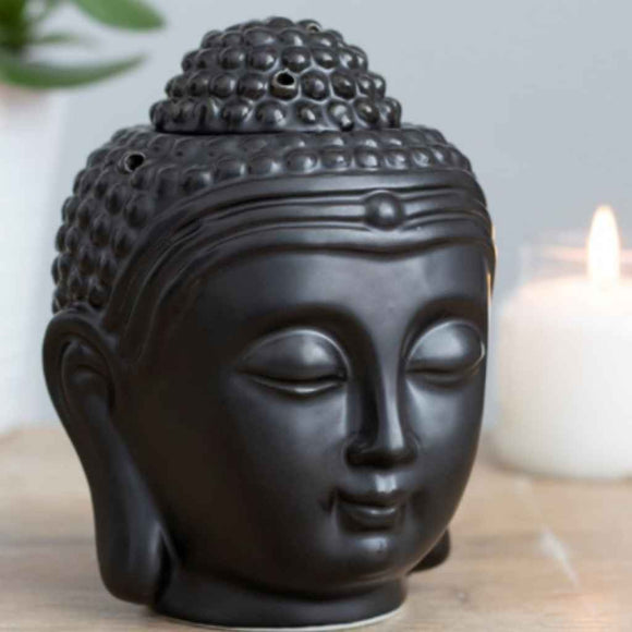 Home Aroma | Burners | Matte Black Buddha Head
