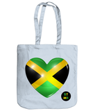 100% Organic Heavyweight Tote  - Jamaica Heart
