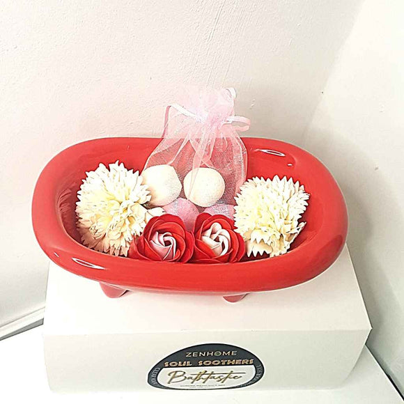 Bathtastic Pamper Gift Box | Mini Bath Bombs & Soap Flowers