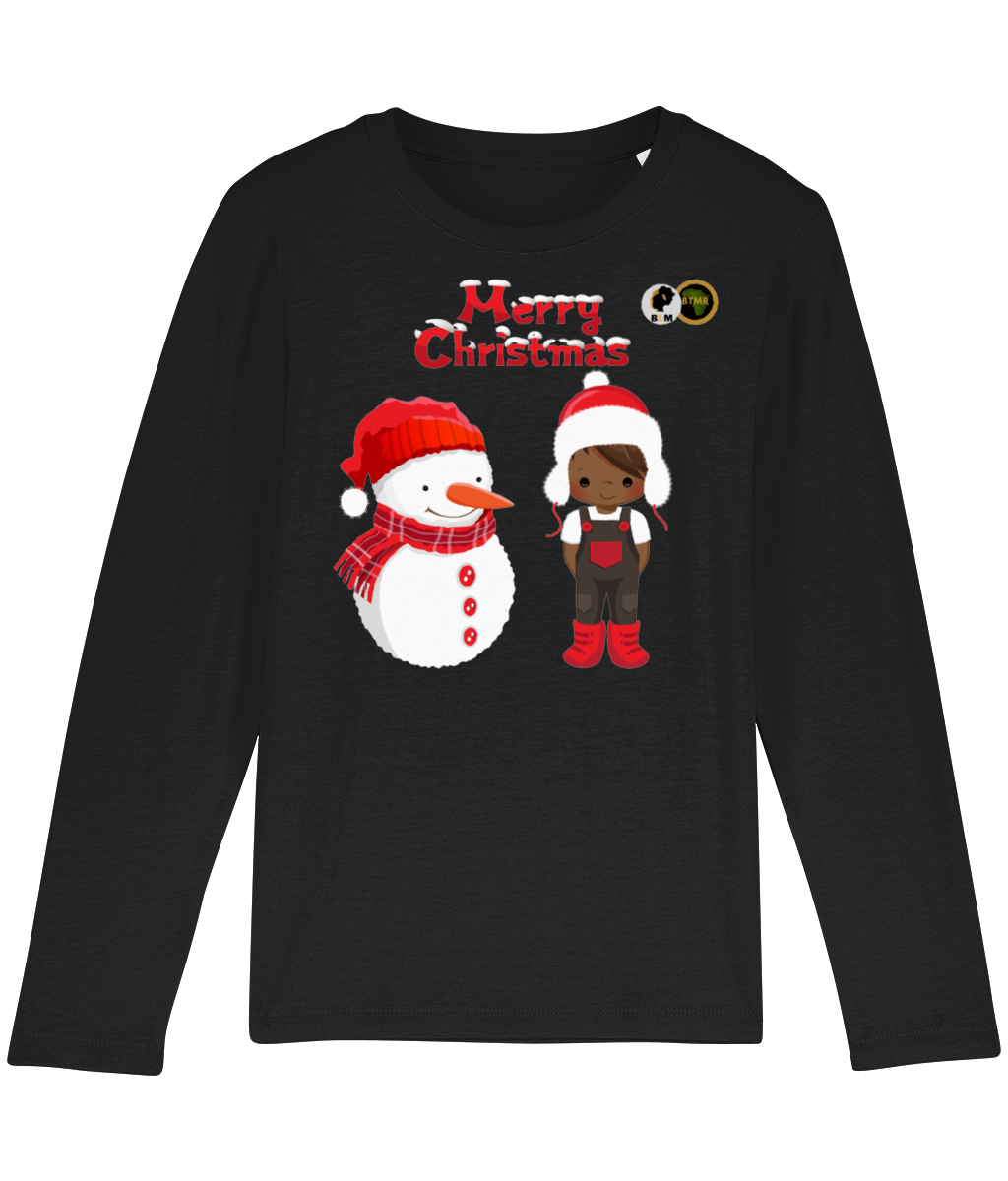 Long Sleeve T Shirt - Boy & Snowman