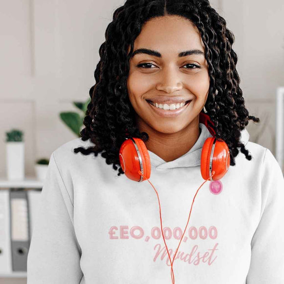 CEO Mindset Unisex Hoodie (pink font)