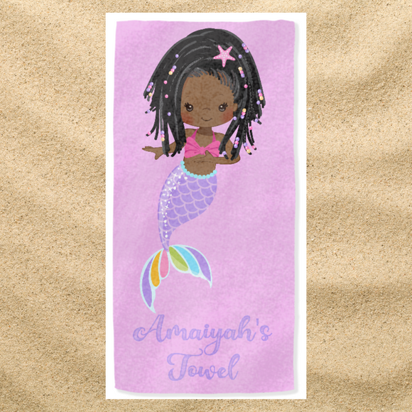 BlackLikeMe| Personalised Towels | Mermaids