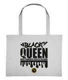 Large Shopping Bag - Black Queen Chess