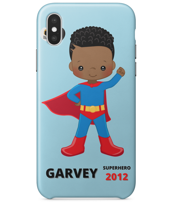 iPhoneX Phone Case - Blue SuperHero