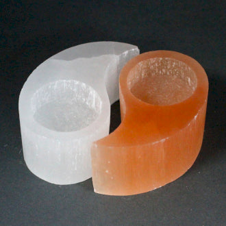 Tealight Holders | Selenite | Yin Yang