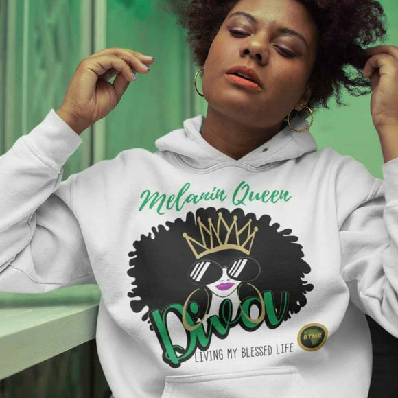 Fitted Hoodie | Female | Melanin Queen Diva