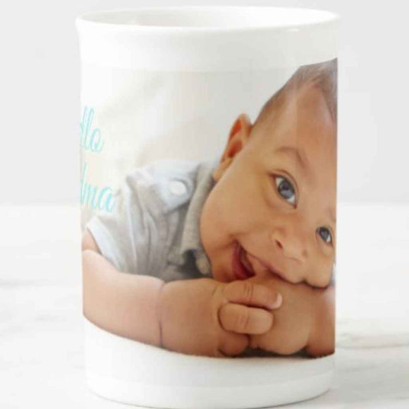 Fine China 10oz Slim Photo Cup