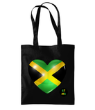 BlackToMyRoots Lightweight Shoulder Tote - Jamaica Heart