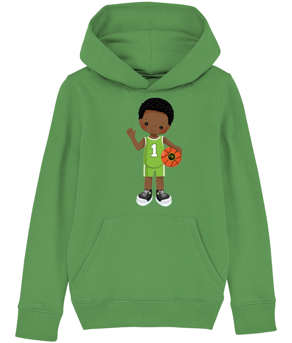 Hoodie | Boy | Basketball Green