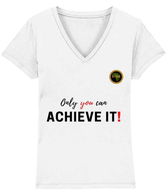 Achieve It Fitted V Neck T Shirt