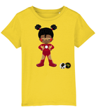 Girls T Shirt - Red Superheroine