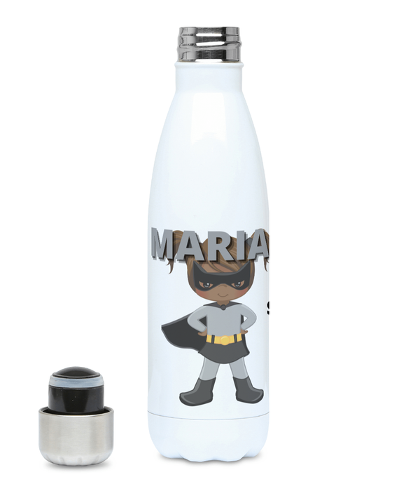 Personalised BLM Kids Hydro Flask - Grey SuperHeroine