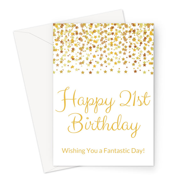 Card | Milestone Birthday | 21 | Gold Glitter