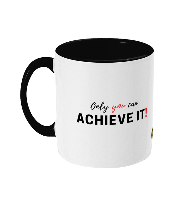 Personalised Achieve It Two Tone Mug