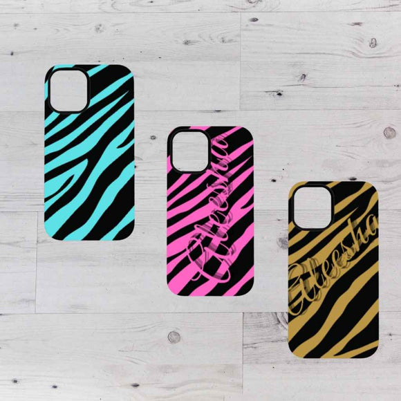 Apple Tough Phone Cases - Zebra Print