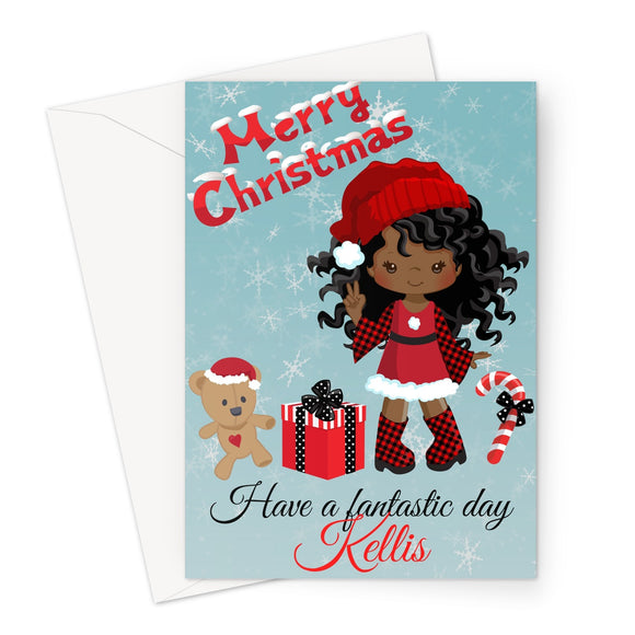 Santa's Helper Peronalised Merry Christmas Card