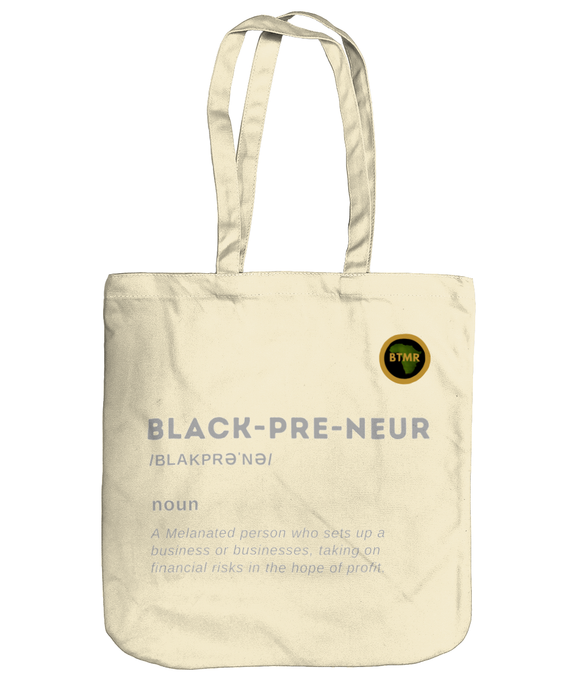 Organic Heavyweight BlackPreneur Tote - Grey