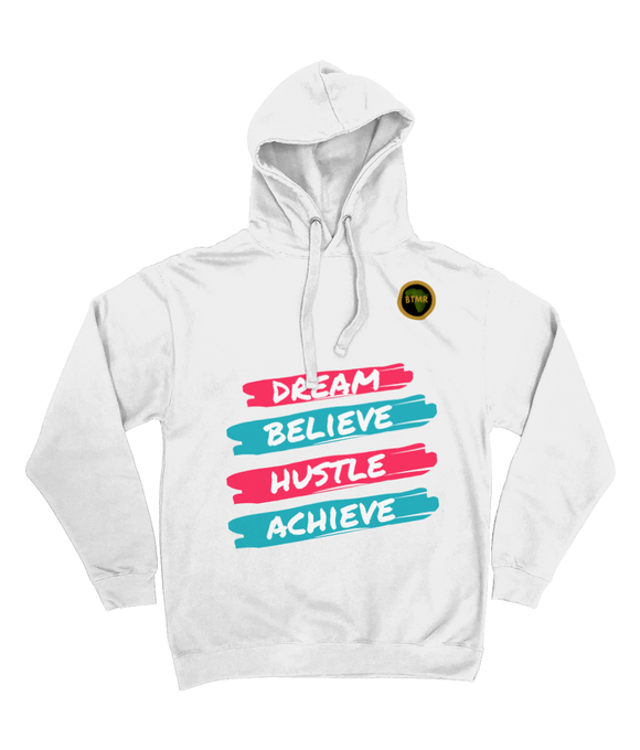 Dream Believe Pocketless Hoodie - Pink/Blue