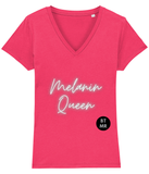 BTMR Melanin Queen Fitted V Neck T Shirt (s)
