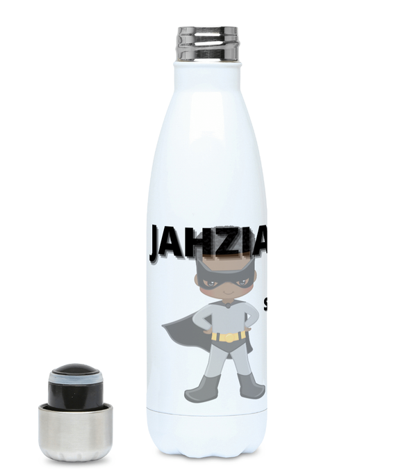 Personalised Hydro Flask - Grey Superhero