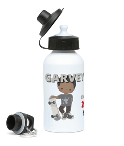 Personalised Sports Water Bottle - Skater Boy