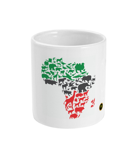 Animals of Africa Map Cup