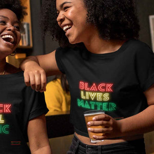 Black Lives Matter Cropped T Shirt