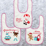 BLM Christmas - Two Personalised Baby's Bibs