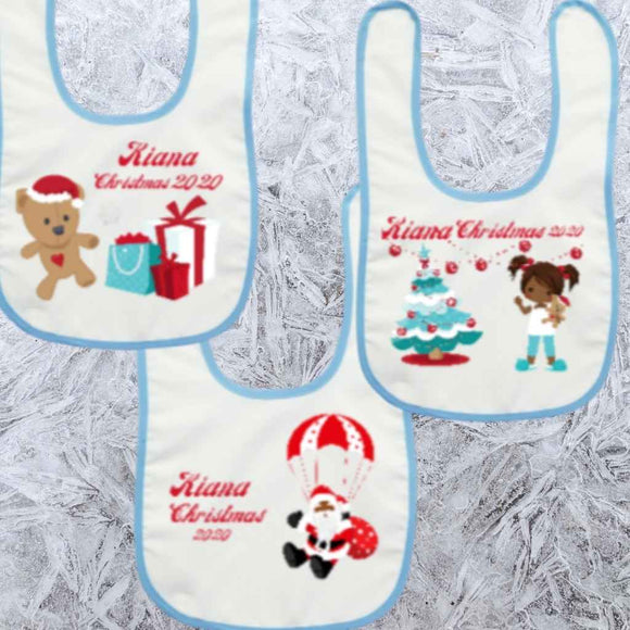 BLM Christmas - Personalised Baby's Bibs