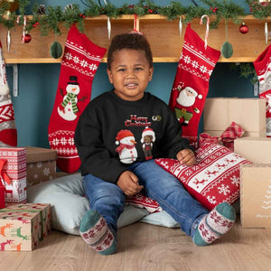 BLM Boy and Snowman Sweater