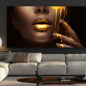Canvas Print - Golden Lips