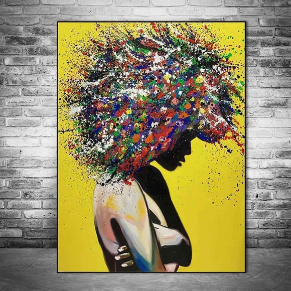 BTMR Home - Rainbow Afro Digital Canvas Print
