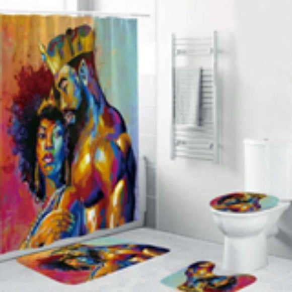 BTMR Home - King and his Queen Shower Curtain