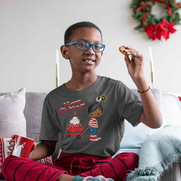 BLM Christmas Boy Sled T Shirt