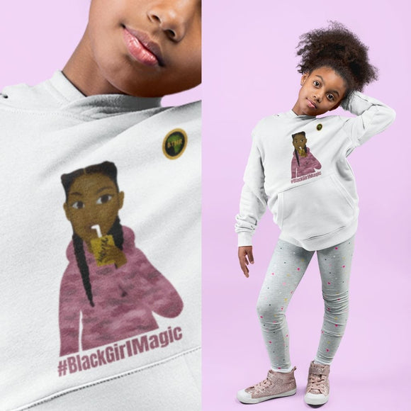 Camo Girl Teen Hoodie #BlackGirlMagic