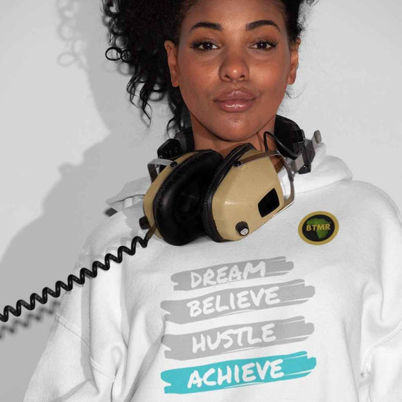 Dream Believe Unisex Hoodie -Grey/Blue