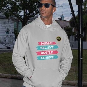Dream Believe Unisex Hoodie - Pink/Blue