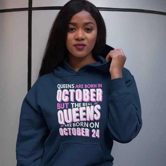 Personalised Hoodie | Womens | Real Queens born on....