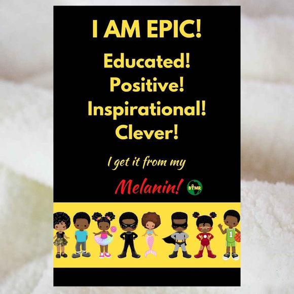 Personalised Blankets | Sherpa Fleece | BLM Kids I am Epic