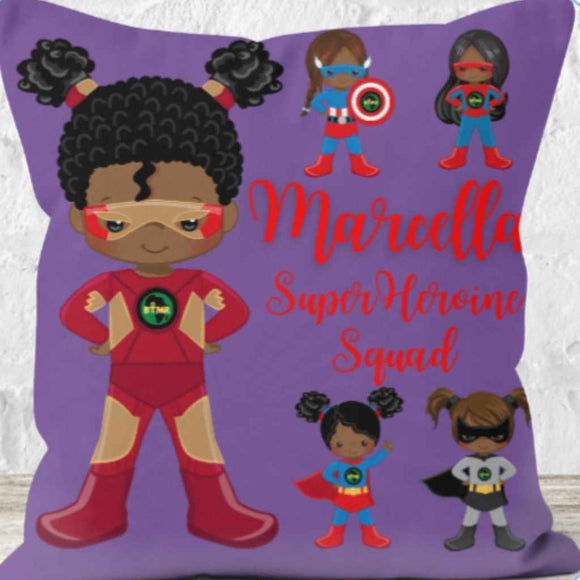 Personalised Cushions | BLM Kids | Super Heroine Squad