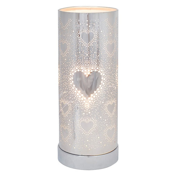 26cm Silver Heart Aroma Touch Lamp