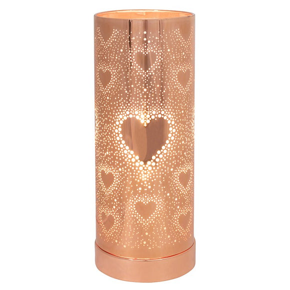 26cm Rose Gold Heart Aroma Touch Lamp