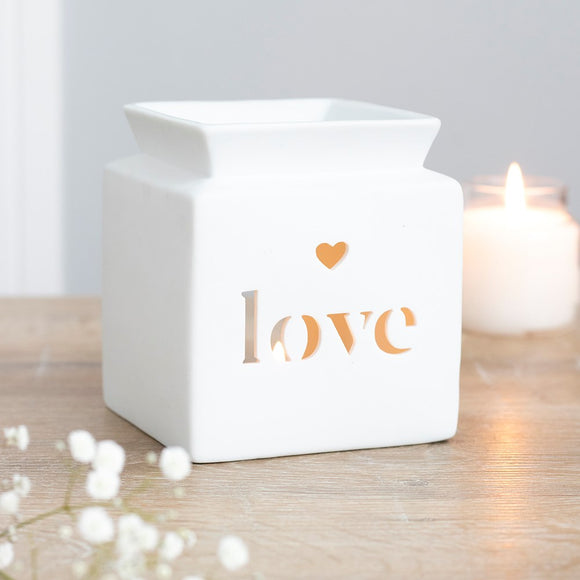 Oil & Wax Melt Burners | 'Love' Cut-Out