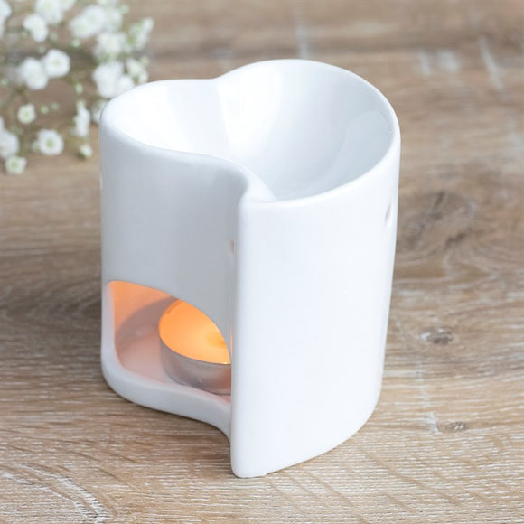 Wax Melts & Oil Burner | Contemporary | White Heart