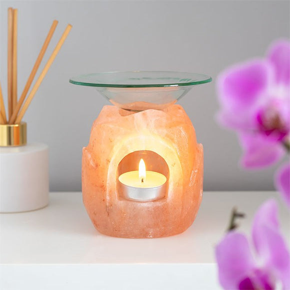 Himalayan Salt | Oil Burner | Lotus Flower
