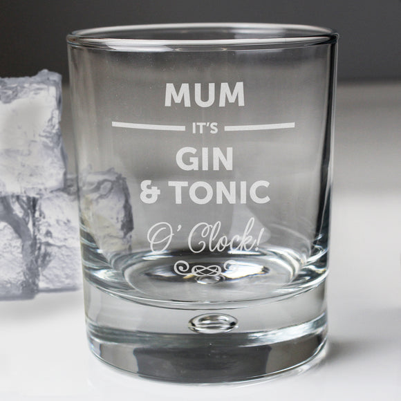 Personalised Its... O Clock Bubble Glass