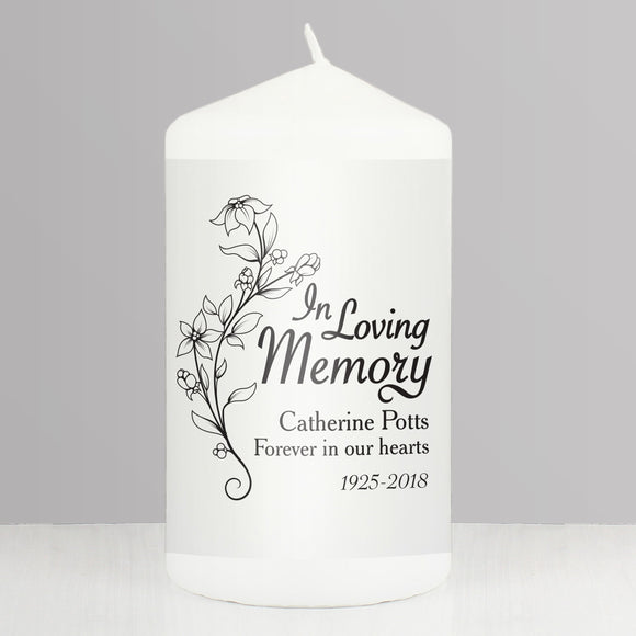 Personalised In Loving Memory Candle